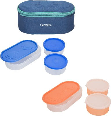 Carrolite Combo Browny Blue With Container 6 Containers Lunch Box