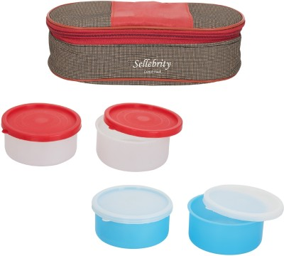 Sellebrity Royal Two Colour With 2 Boxes 4 Containers Lunch Box(800 ml)