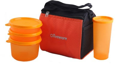 Oliveware Quick Carry Lunch Bag 4 Containers Lunch Box