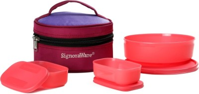 Signoraware Classic Lunch (Sappire) with Bag 3 Containers Lunch Box