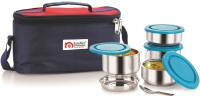NanoNine Tiffiny 4pc. Meal Pack (350ml x 2 & 250ml x 2) 4 Containers Lunch Box best price on Flipkart @ Rs. 943