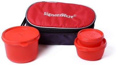 Signoraware 553 Rainbow 3 Containers Lunch Box(700 ml)