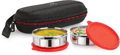 Cello Max Fresh Super Steel 2 Containers Lunch Box