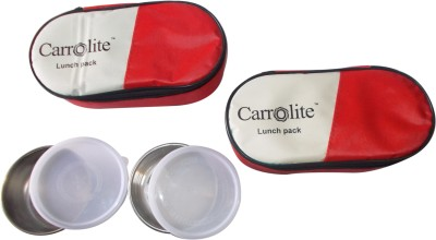 Carrolite Economy Combo Red 2 Containers Lunch Box