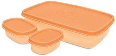 Milton I Fresh 1000ml With 2 Inner Plastic Containerss, Orange 3 Containers Lunch Box(1000 ml)