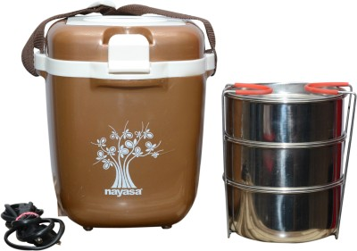 nayasa Electric Tiffin-3 3 Containers Lunch Box