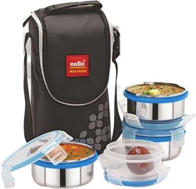 Cello Max Fresh Steel Click 4 Containers Lunch Box