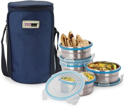 Steel Lock TIFFIN 1341 4 Containers Lunch Box