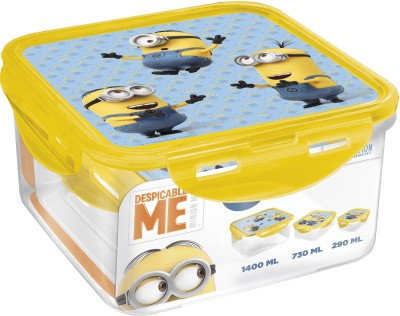 Minions Square 3 Containers Lunch Box