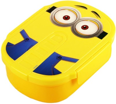 Tuelip Despicable Me Minions Bento Case With Spoon Dinnerware Set 1 Containers Lunch Box(800 ml) at flipkart