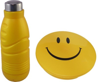 Infinxt Stylish Smiley Yellow 1 Containers Lunch Box