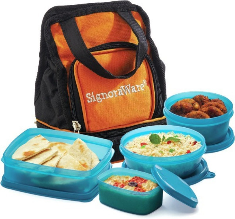 Signoraware Carry Lunch Box 4 Containers Lunch Box