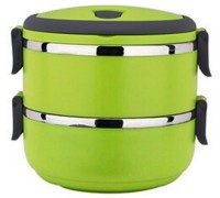Cool Trends Easy Lock Stainless Steel Double Layer 2 Containers Lunch Box