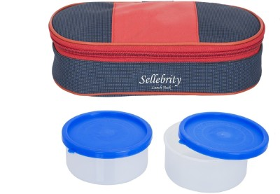 Sellebrity Executive Royal Red Blue 2 Containers Lunch Box(400 ml)