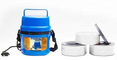 DIZIONARIO Power Plus Electric Microweavable 3 containers Hot Lunch Box 3 Containers Lunch Box