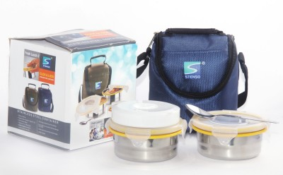 Stenso Fresh Lunch 2 Blue Colour 2 Containers Lunch Box