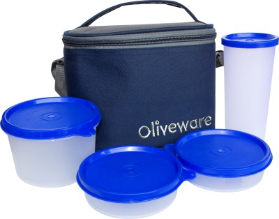 Oliveware LB54Blue 4 Containers Lunch Box