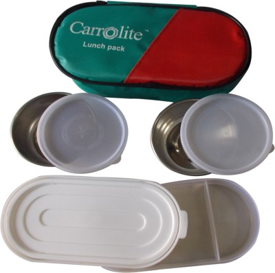 Carrolite Economy Green 3 Containers Lunch Box