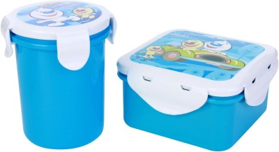 Pratap Hyper Locked Container Set Junior Blue 2 Containers Lunch Box