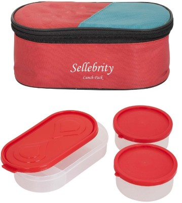 Sellebrity Indian Red 3 in 1 3 Containers Lunch Box(650 ml)