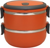 Easyhome Stainless Steel Round Double Layer 2 Containers Lunch Box(1400 ml)