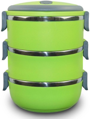 Mood of Wood Three Layer Tiffin Box 3 Containers Lunch Box