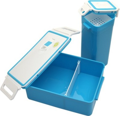 Homio Blue One Plus One 1 Containers Lunch Box