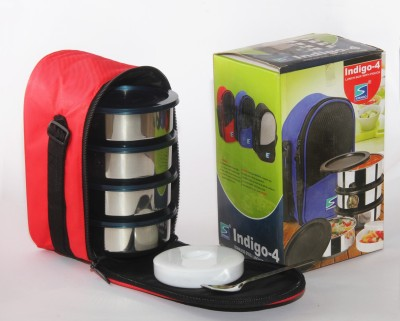 Stenso Indigo-4 5 Containers Lunch Box