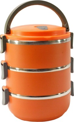 SJ Thermos Insulated Hot 3 Containers Lunch Box