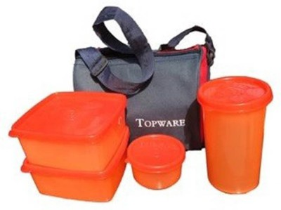 Topware Topware Plan Dark Red 4 Containers Lunch Box
