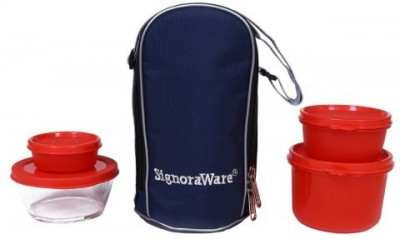 Signoraware Celebrity Lunch Box (1000ml) Red 4 Containers Lunch Box