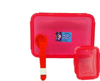 Gayatri Creations HL-RED 2 Containers Lunch Box