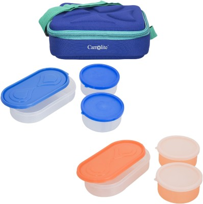 Carrolite Combo Andy Blue With Container 6 Containers Lunch Box