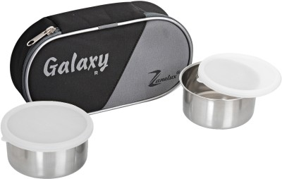 zanelux GLXY STEEL 2 Containers Lunch Box