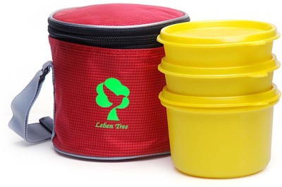 Leben Tree LT EXEC MD RD YL 04 3 Containers Lunch Box