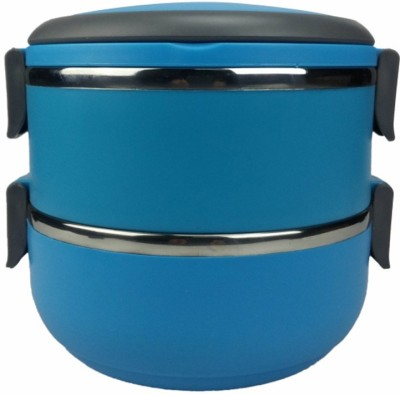 Hengli Stainless Steel Blue 2 Containers Lunch Box