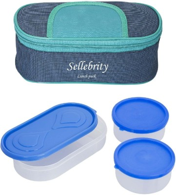 Sellebrity Best Solace Blue Green 3 Containers Lunch Box(650 ml)