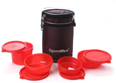 Signoraware 534 Perfect With Bag 4 Containers Lunch Box