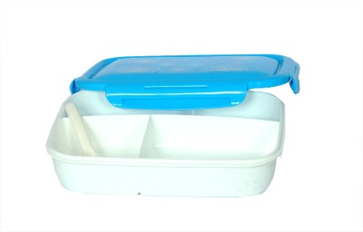 Chrome Lunch Box with Spoon(4 Compartments) 9564 4 Containers Lunch Box