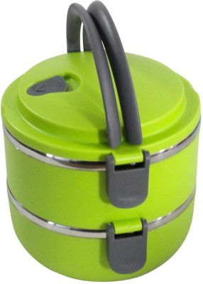 Mood of Wood Two Layer Tiffin Box 2 Containers Lunch Box