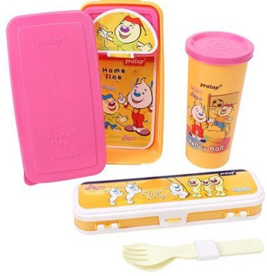 Finnexe SCHOOL TIME 3 Containers Lunch Box