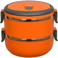 Blossoms Orange 2 Layer 2 Containers Lunch Box(1400 ml)