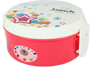 FabSeasons LBX09pink 2 Containers Lunch Box