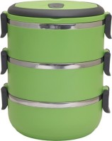 Easyhome Stainless Steel Round Triple Layer 3 Containers Lunch Box