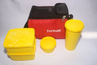 Topware Red Packing 4 Containers Lunch Box