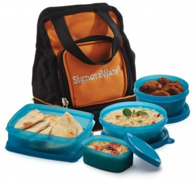 Signoraware Carry Lunch Box with Bag 4 C...