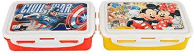 SKI Kids Cartoon Tiffin 2 Containers Lunch Box