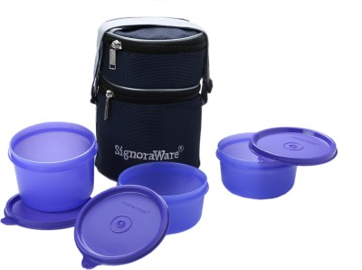 Signoraware Officer Lunch Box with Bag 3 Containers Lunch Box