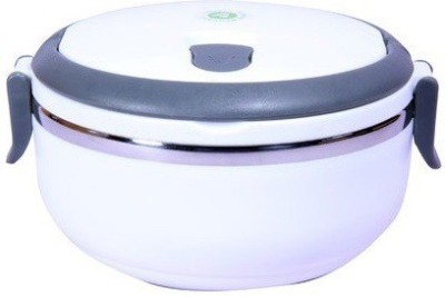 Homio Single Layer Round White 1 Containers Lunch Box