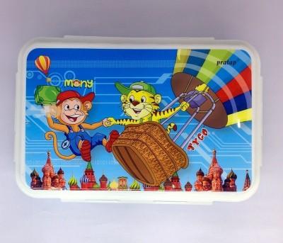 Pratap Double Decker Kids 3 Containers Lunch Box